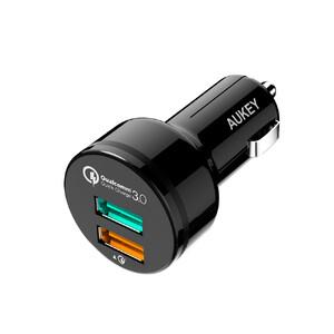 Купить Автомобильное зарядное устройство Aukey CC-T7 Black