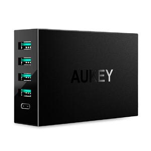 Купить Быстрая зарядная станция Aukey PA-Y5 5-Port Type-C Charging Station