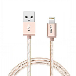 Купить Кабель AUKEY Lightning 1.2m Gold для iPhone/iPad/iPod