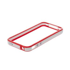 Купить Двухцветный бампер Apple для iPhone 4/4S Красный/белый