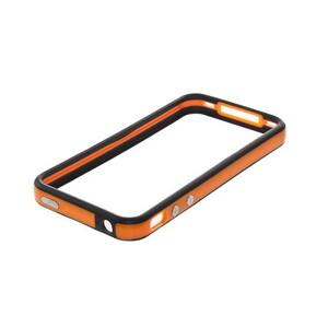 Купить Двухцветный бампер Apple для iPhone 4/4S Оранжевый/черный