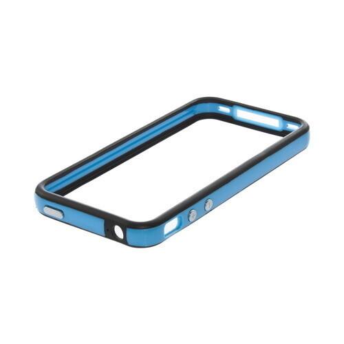 Двухцветный бампер Apple для iPhone 4/4S Голубой/черный