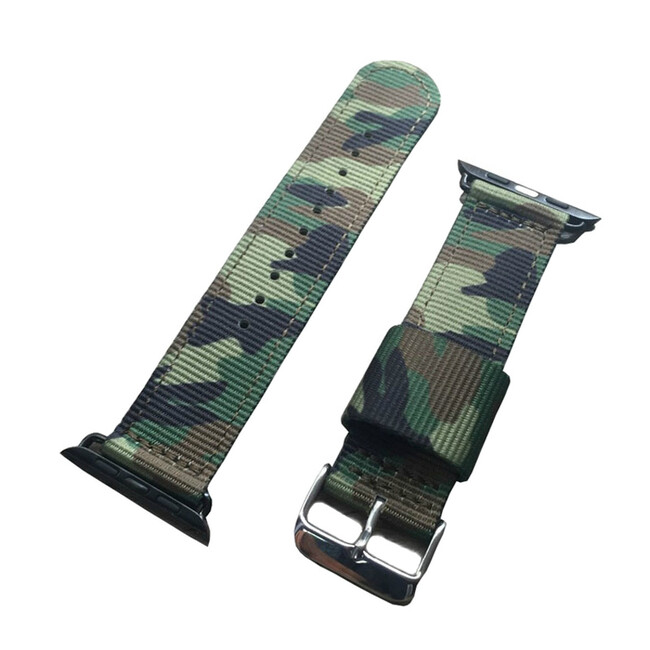 Ремешок Canvas Camouflage Green для Apple Watch 42mm