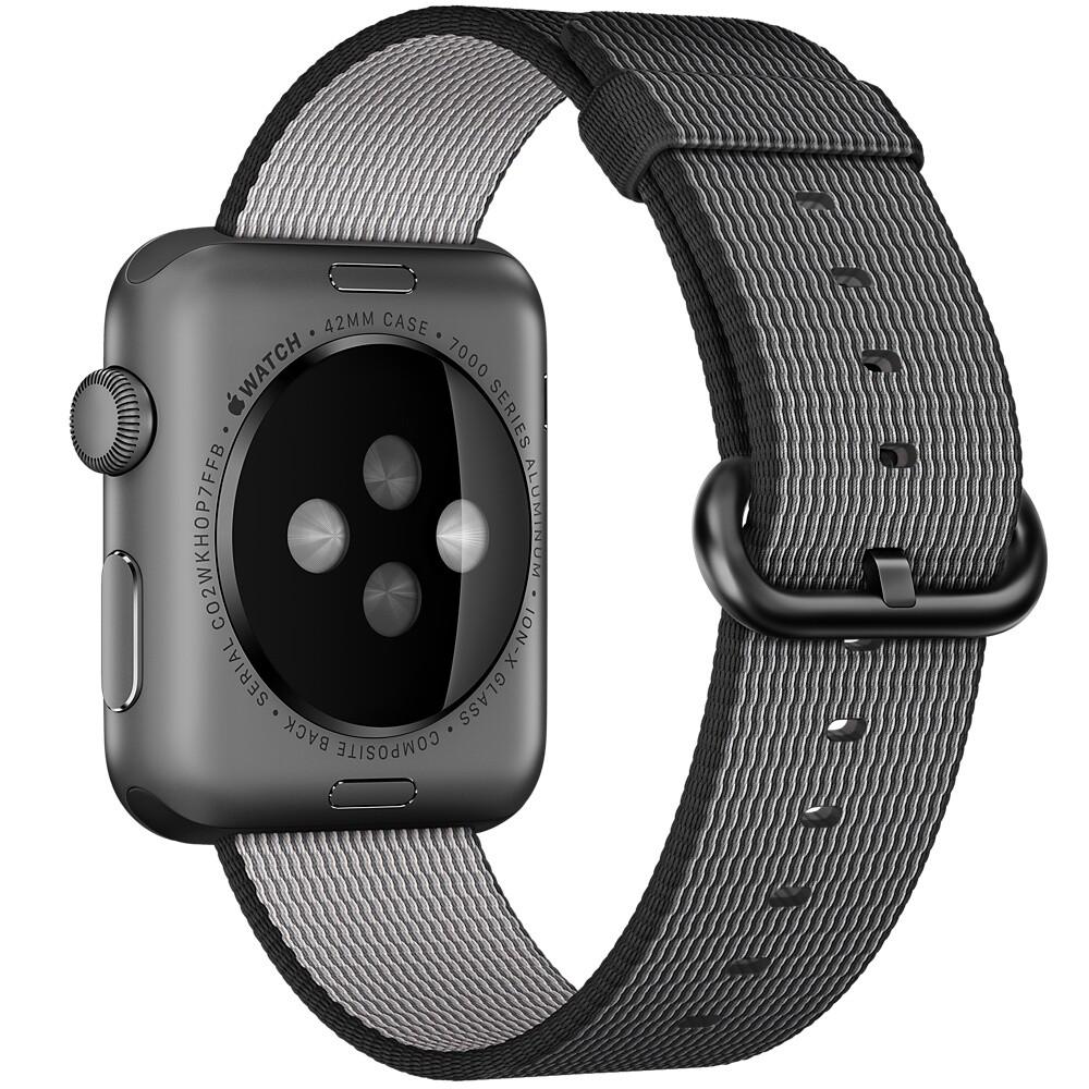 Нейлоновый ремешок Woven Nylon Black для Apple Watch 38mm Series 1/2/3