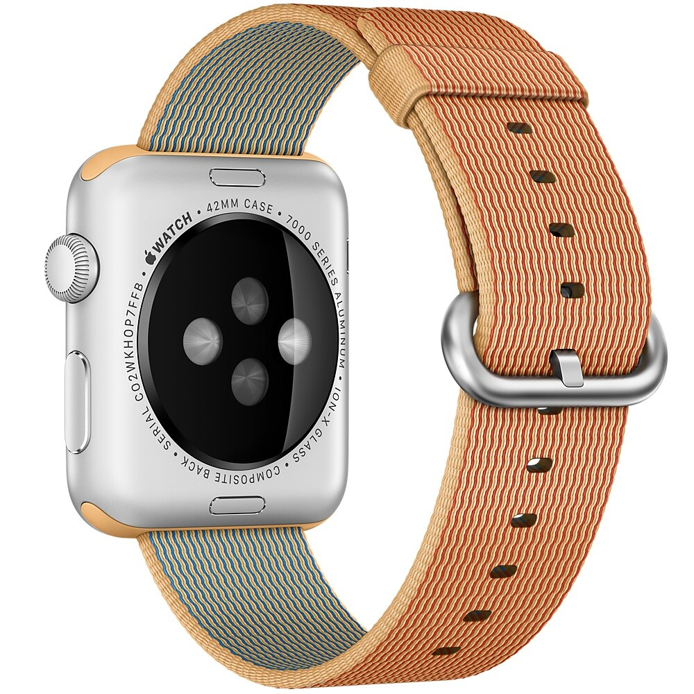 Нейлоновый ремешок Woven Nylon Gold/Red для Apple Watch 38mm Series 1/2/3