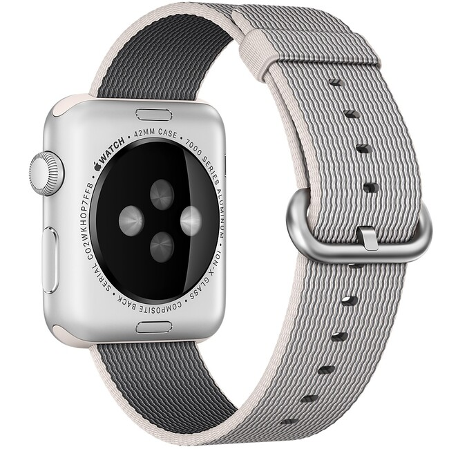 Нейлоновый ремешок Woven Nylon Pearl для Apple Watch 38mm