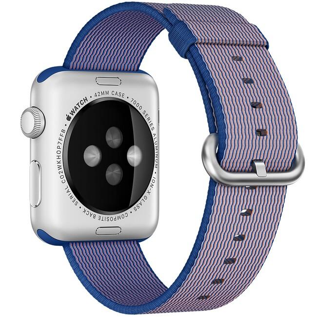 Нейлоновый ремешок Woven Nylon Royal Blue для Apple Watch 38mm Series 1/2