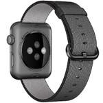 Нейлоновый ремешок oneLounge Woven Nylon Black для Apple Watch 42mm/44mm Series 5/4/3/2/1