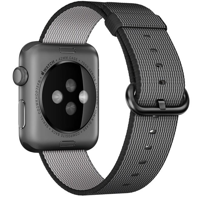 Нейлоновый ремешок Woven Nylon Black для Apple Watch 42mm