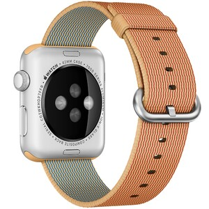 Купить Нейлоновый ремешок oneLounge Woven Nylon Gold/Red для Apple Watch 42mm/44mm Series 1/2/3/4