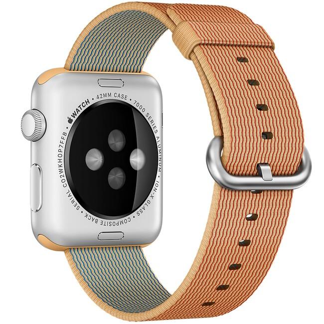 Нейлоновый ремешок Woven Nylon Gold/Red для Apple Watch 42mm Series 1/2