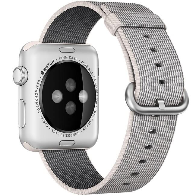 Тканевый ремешок Woven Nylon Pearl для Apple Watch 42mm