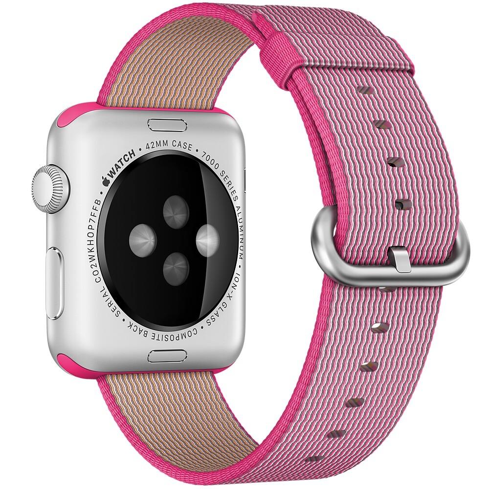 Нейлоновый ремешок Woven Nylon Pink для Apple Watch 42mm Series 1/2/3