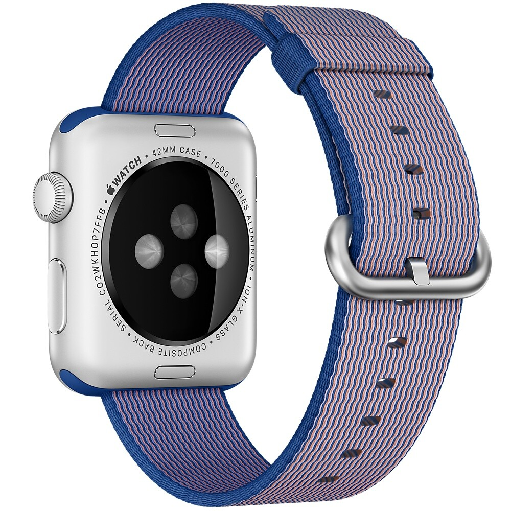 Нейлоновый ремешок Woven Nylon Royal Blue для Apple Watch 42mm Series 1/2/3