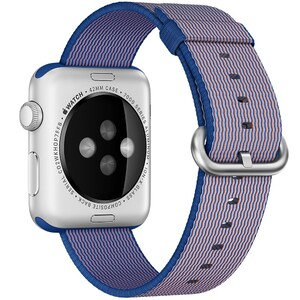 Купить Нейлоновый ремешок oneLounge Woven Nylon Royal Blue для Apple Watch 42mm/44mm Series 1/2/3/4