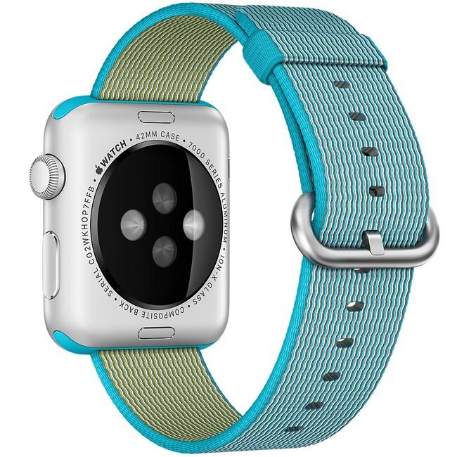 Нейлоновый ремешок Woven Nylon Scuba Blue для Apple Watch 42mm