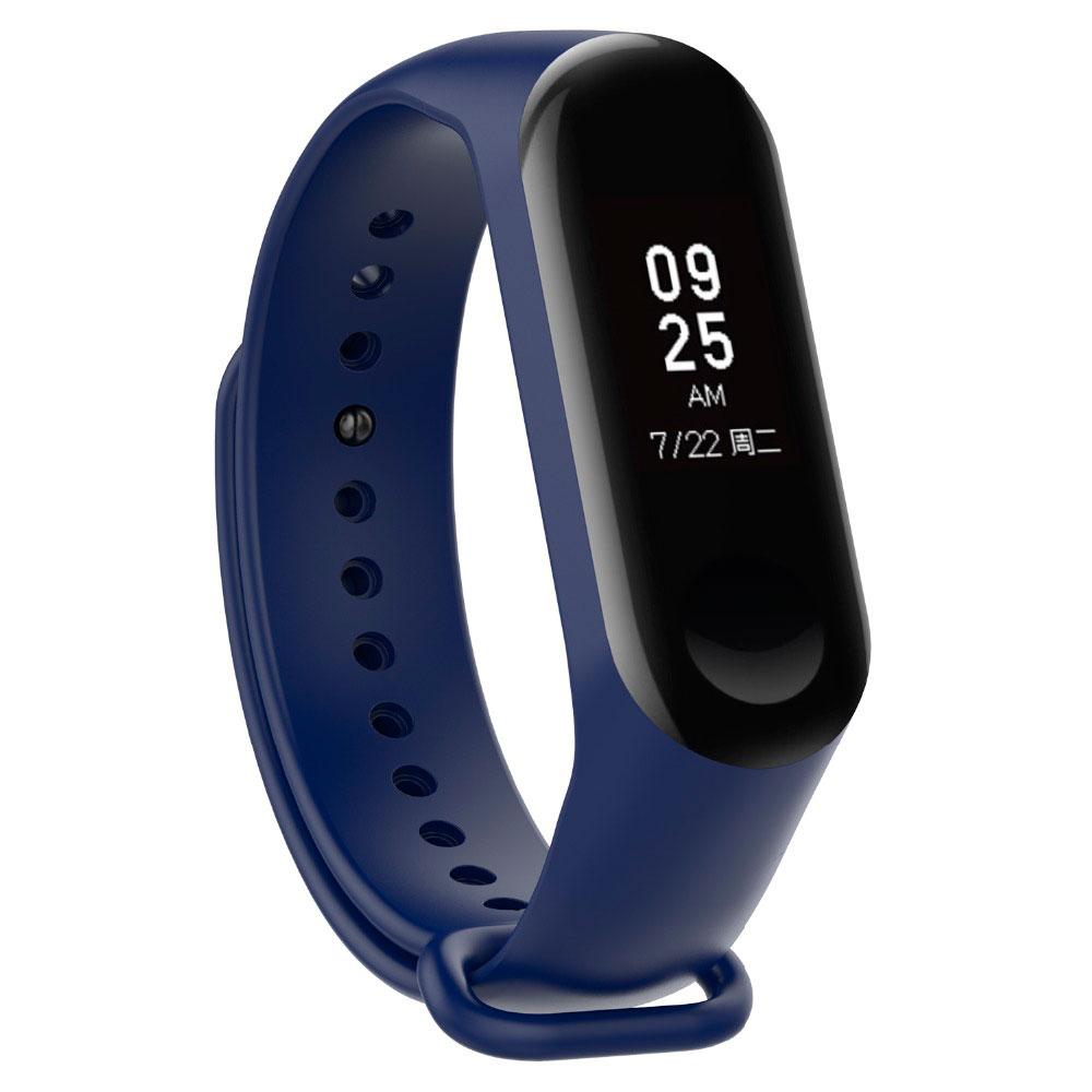 Купить Силиконовый ремешок Xiaomi Mi Band 3 | 4 Blue для фитнес-браслета