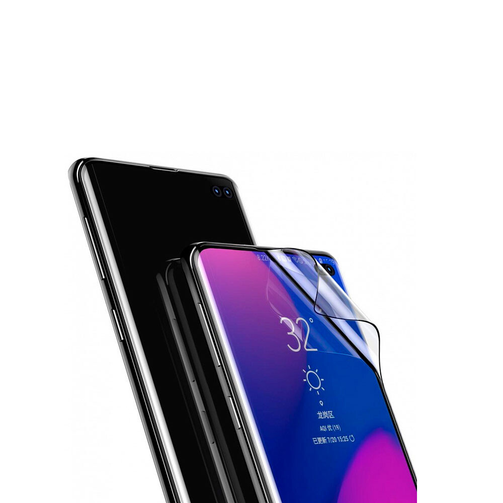 Защитная пленка Baseus 0.15mm Full Screen Curved Edge для Samsung Galaxy S10 Plus (2 пленки)
