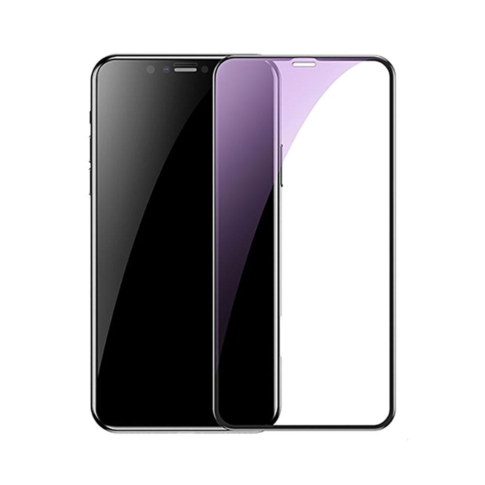 Купить Полноэкранное защитное стекло Baseus 0.2 mm Arc-Surface Anti-Blue Light Black для iPhone 11 | XR