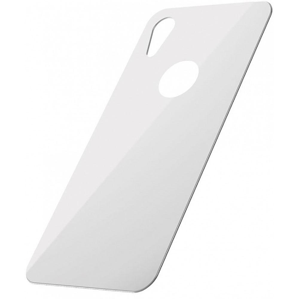 Купить Защитное стекло на заднюю панель Baseus 0.3mm Full Tempered Glass White для iPhone XR