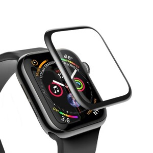 Купить Защитное стекло Baseus 0.3mm Full Screen Curved Tempered Glass Black для Apple Watch 40mm Series 4