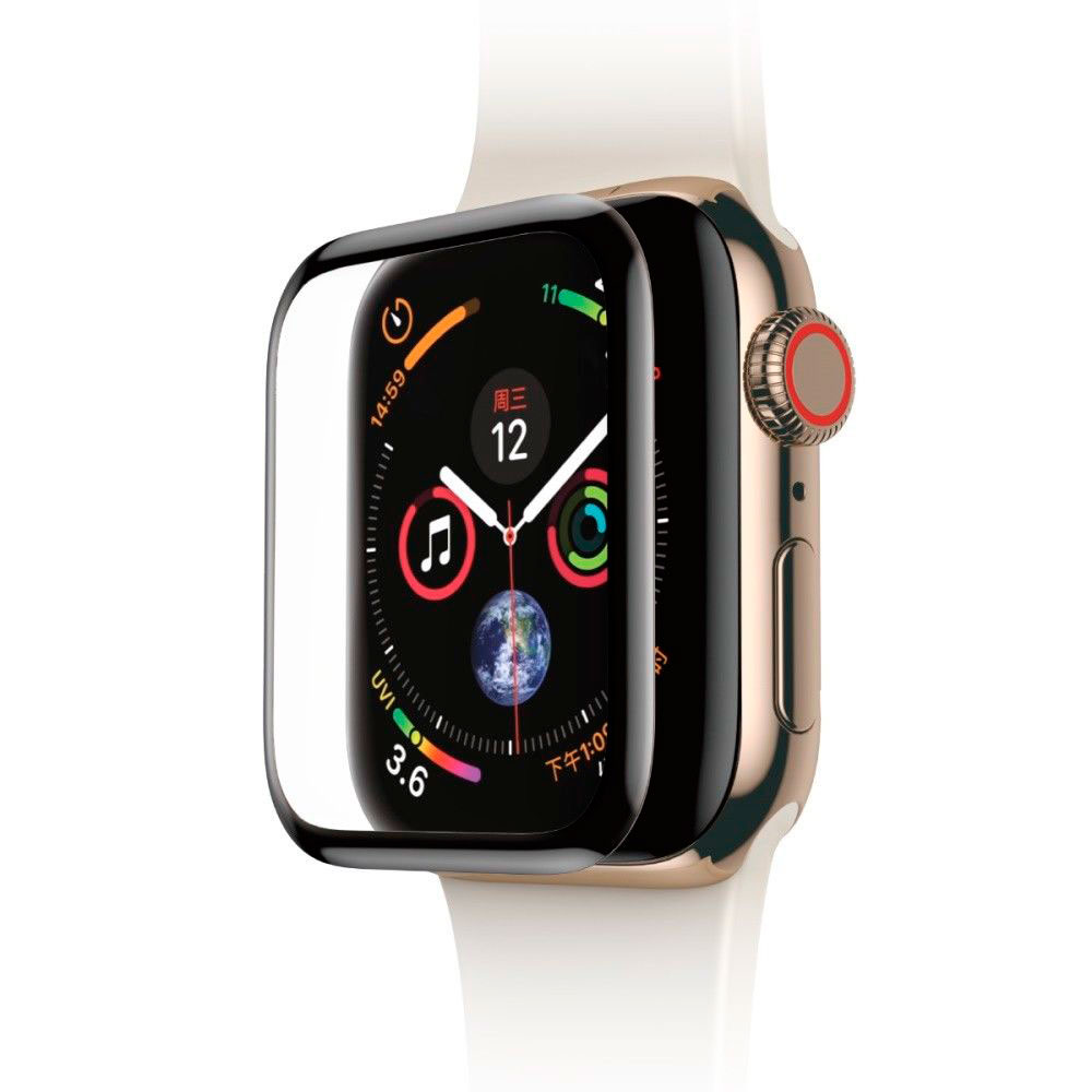 Купить Защитное стекло Baseus 0.3mm Full Screen Curved Tempered Glass Black для Apple Watch 44mm SE | 6 | 5 | 4