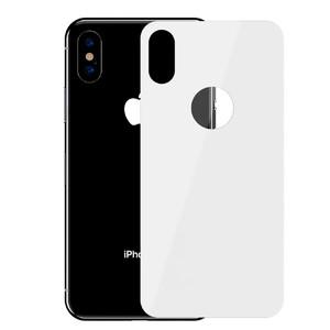 Купить Защитное стекло на заднюю панель Baseus 0.3mm Full Tempered Glass White для iPhone X/XS