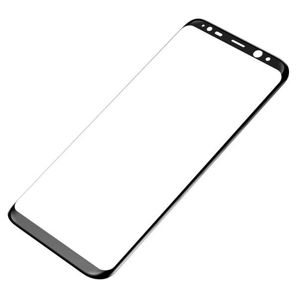 Защитное стекло Baseus 3D Arc Black для Samsung Galaxy S8