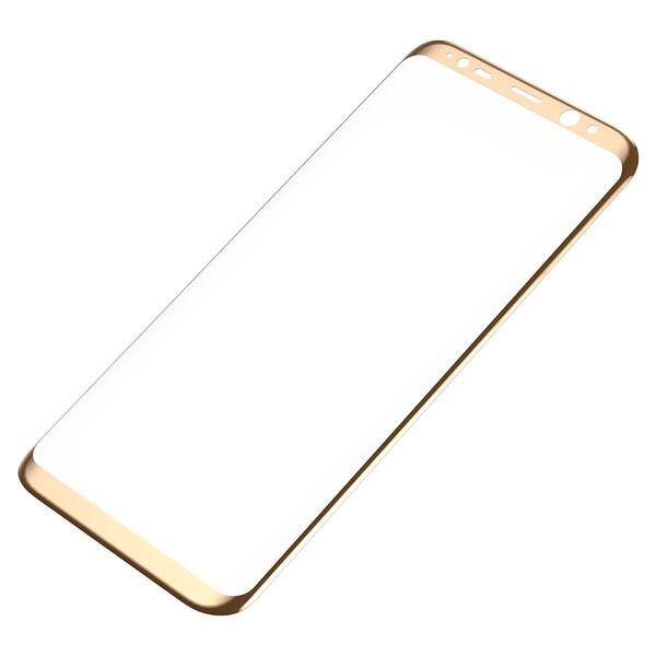 Защитное стекло Baseus 3D Arc Gold для Samsung Galaxy S8