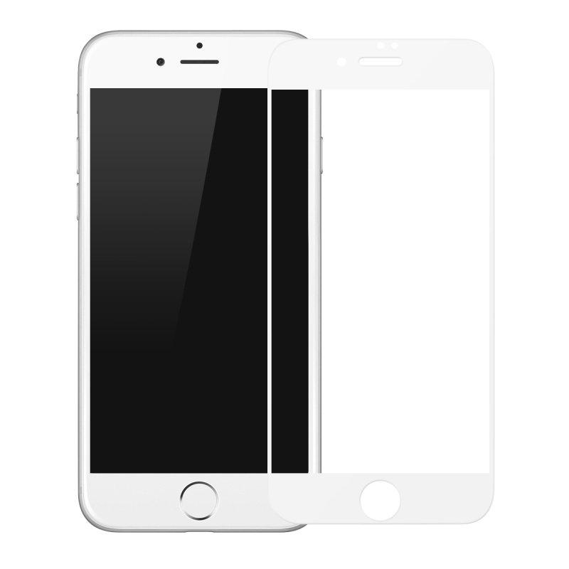 Купить Защитное стекло Baseus Silk-Screen 3D Arc White для iPhone 7 | 8 | SE 2020