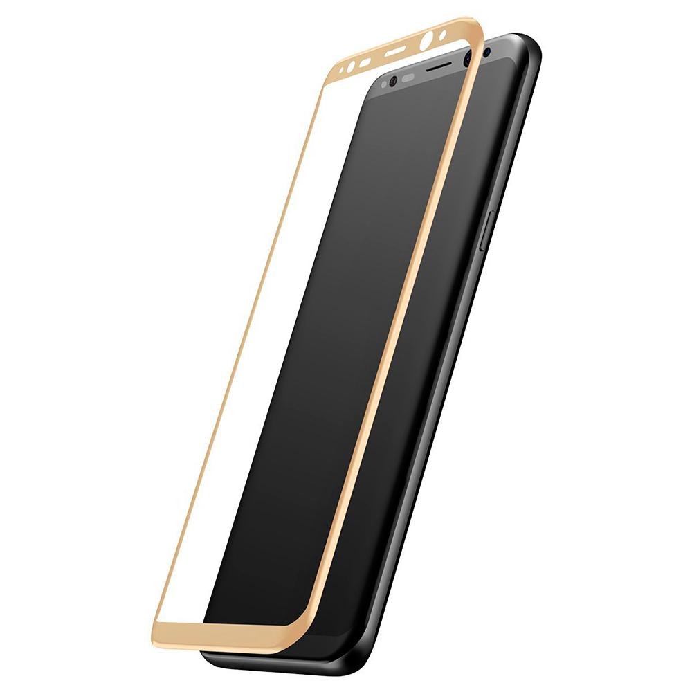 Купить Защитное стекло Baseus 3D Arc Gold для Samsung Galaxy S8 Plus