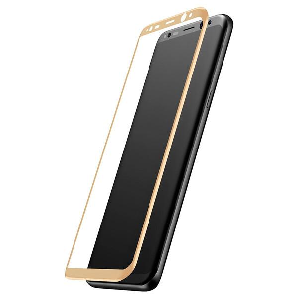 Защитное стекло Baseus 3D Arc Gold для Samsung Galaxy S8 Plus