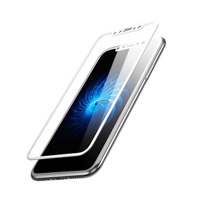 Купить Глянцевое полноэкранное защитное стекло Baseus 3D Silk-Screen 0.23mm White для iPhone X