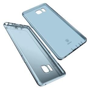 Купить Ультратонкий TPU чехол Baseus Air Case Transparent Blue для Samsung Galaxy Note 7