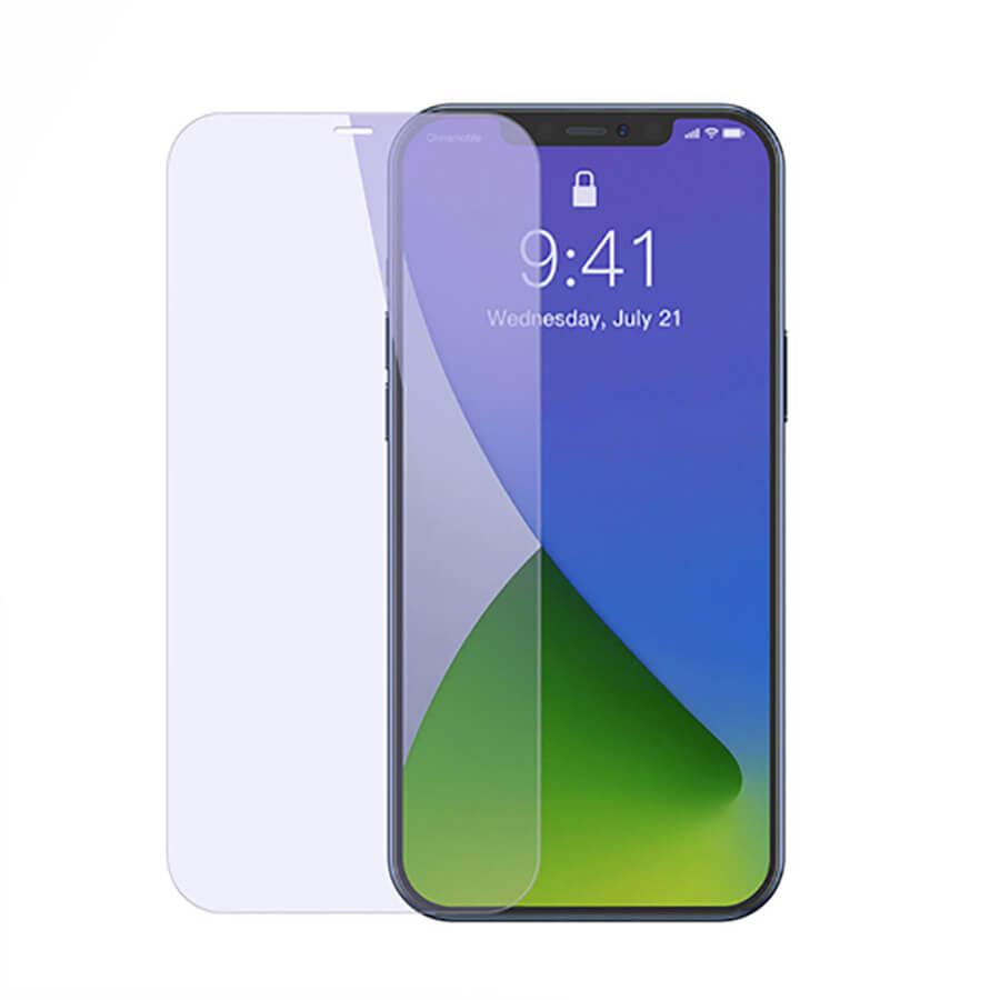 Купить Защитное стекло Baseus Anti-Blue Light Tempered Glass 0.3mm для iPhone 12 | 12 Pro (2 шт.)
