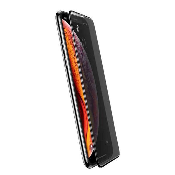 Защитное стекло анти-шпион Baseus Arc Surface Full Screen Tempered Glass 0.3mm для iPhone 11 Pro Max   XS Max