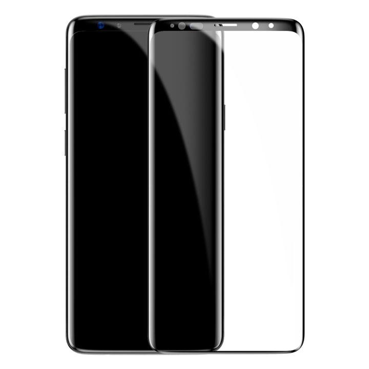 Купить Полноэкранное защитное стекло Baseus Arc-surface 0.3mm Black для Samsung Galaxy S9