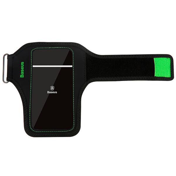 """Спортивный чехол на руку Baseus Flexible Wristband Green для телефонов до 5"""""""