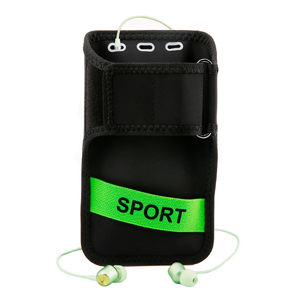 86dc6de996a7 ... Спортивный чехол на руку Baseus Flexible Wristband Green для телефонов  до 5'' - Фото