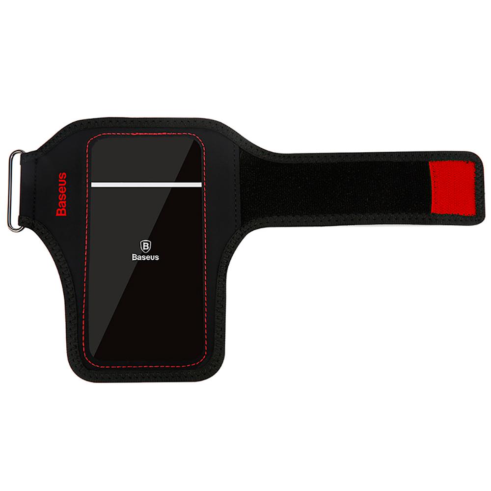"""Купить Спортивный чехол на руку Baseus Flexible Wristband Red для телефонов до 5"""""""