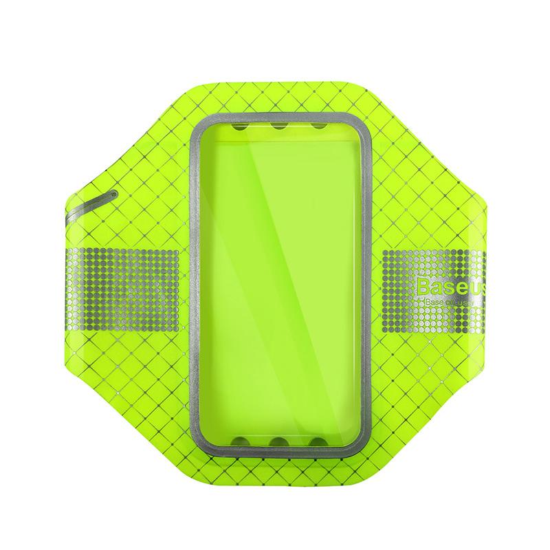 Купить Тонкий чехол на руку Baseus Sports Armband Green для iPhone 7 | 8 | SE 2020 | 6s | 6