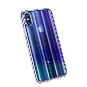 Купить Чехол Baseus Aurora Series Transparent Blue для iPhone X/XS