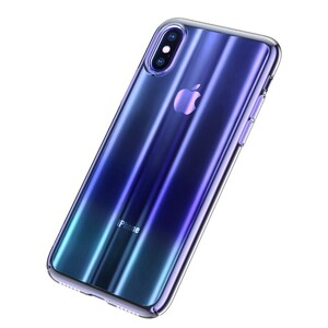 Купить Чехол Baseus Aurora Series Transparent Blue для iPhone XS Max