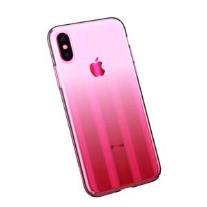 Купить Чехол Baseus Aurora Series Transparent Pink для iPhone X/XS