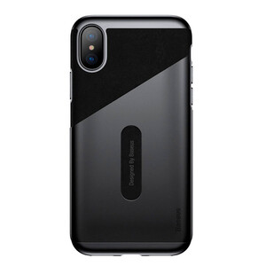 Купить Чехол-накладка Baseus Card Pocket Black для iPhone X/XS