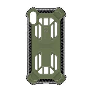 Купить Противоударный чехол Baseus Cold Front Cooling Green для iPhone X/XS