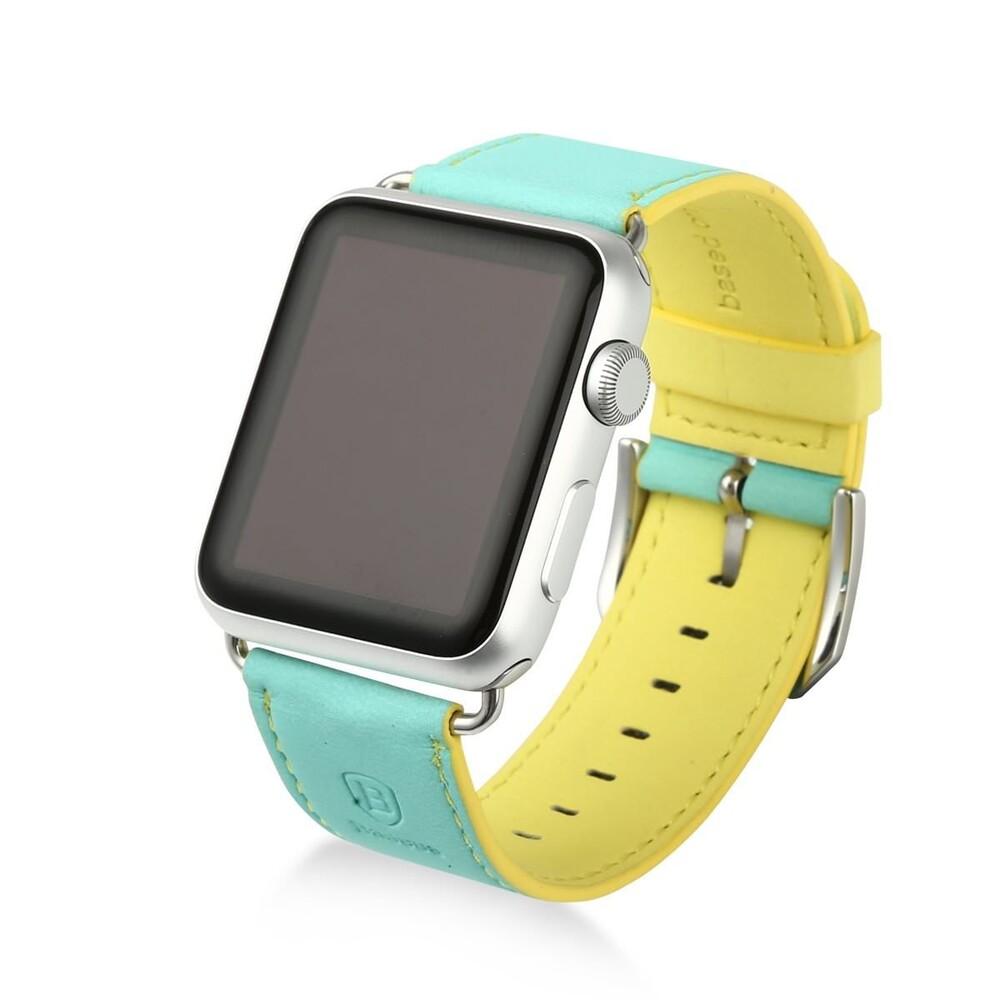Ремешок Baseus Colorful Green/Yellow для Apple Watch 42mm Series 1/2
