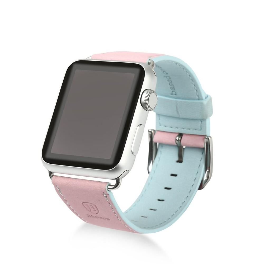 Ремешок Baseus Colorful Pink/Blue для Apple Watch 38mm Series 1/2