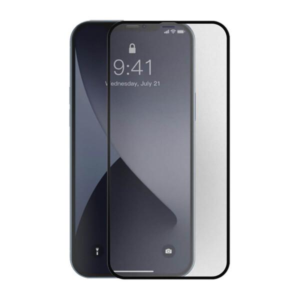 Ультратонкое матовое защитное стекло Baseus Curved Frosted Tempered Glass 0.25mm Black для iPhone 12 mini (2 шт.)