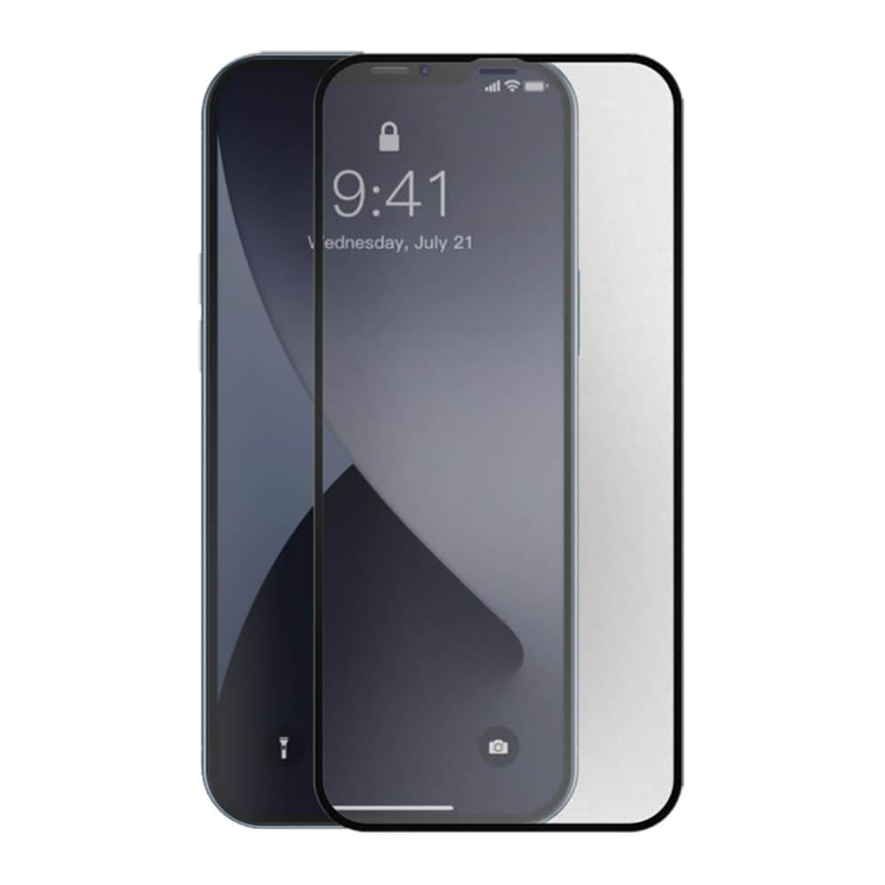 Купить Ультратонкое матовое защитное стекло Baseus Curved Frosted Tempered Glass 0.25mm Black для iPhone 12 | 12 Pro (2 шт.)